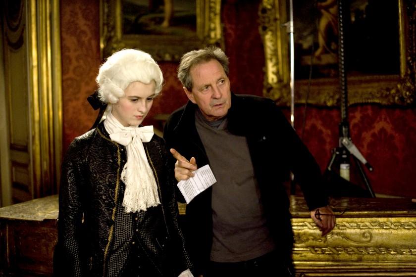 René Féret sur le tournage de Nannerl la soeur de Mozart